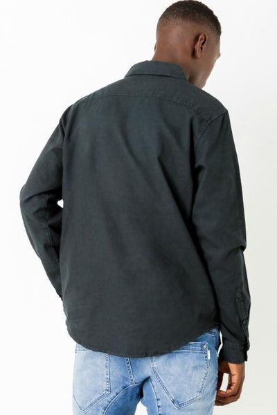 ARTICLE No. 1 - LINEN LS SHIRT BLACK 33617