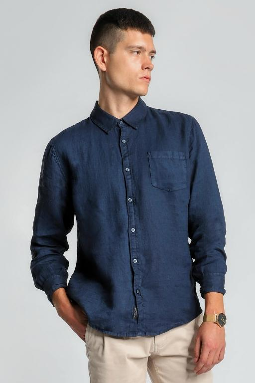 ARTICLE No. 1 - SLATER LINEN LS SHIRT NAVY 33550