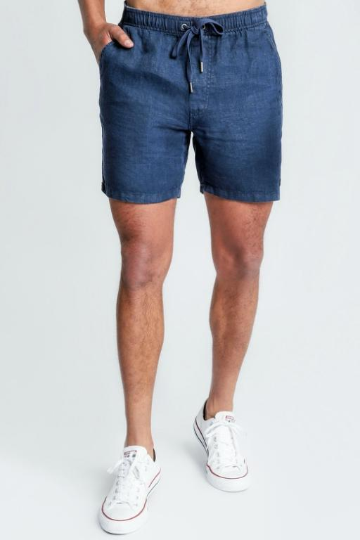 ARTICLE No. 1 - SLATER LINEN SHORTS NAVY 33557