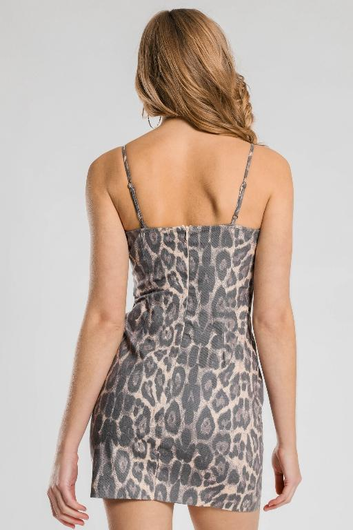 BEYOND HER - LEOPARD MINI DRESS 34007