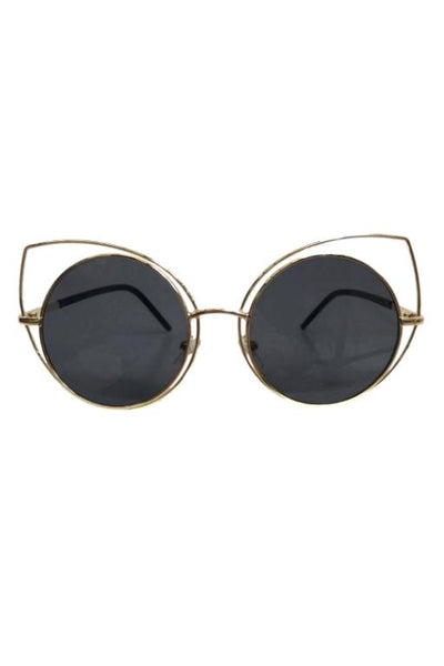 ASHA - CAT EYE SUNGLASSES BLACK 32434