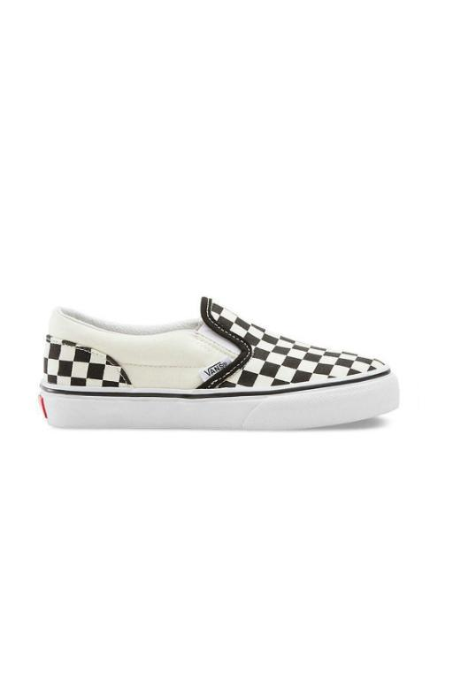 VANS - KIDS CLASSIC SLIP ON (CHECKERBOARD) BLACK/WHITE 31954