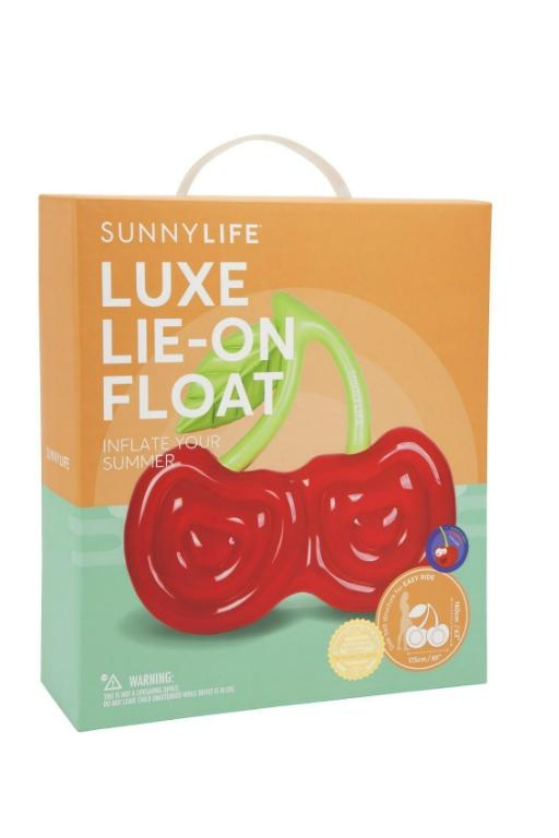 SUNNYLIFE - LUXE LIE-ON FLOAT CHERRY 32553