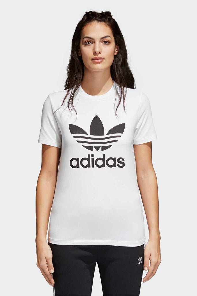 ADIDAS - WOMENS TREFOIL TEE WHITE/BLACK 33096