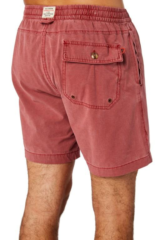DEUS - SANDBAR SOLID GARMENT DYE SHORT RED 33690