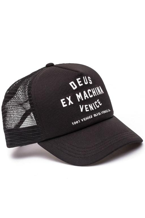 DEUS - VENICE ADDRESS TRUCKER BLACK 25246