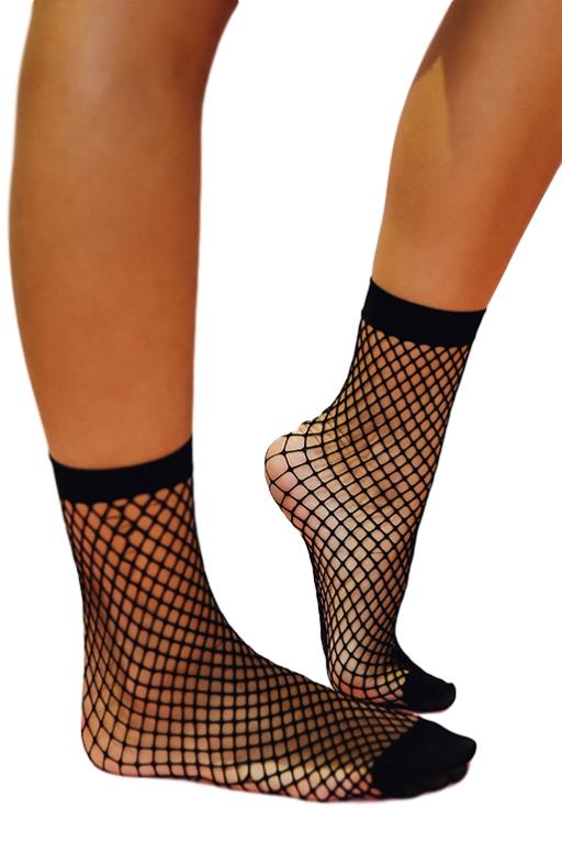 ASHA - FISHNET SOCK BLACK 32742