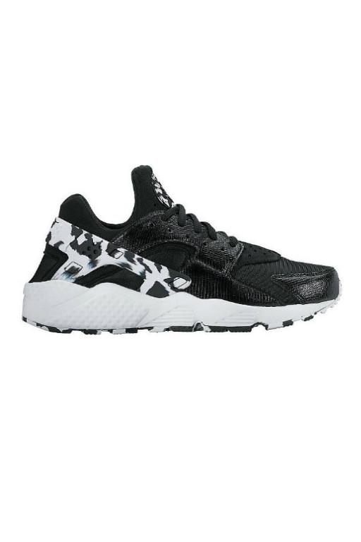 NIKE - WOMENS AIR HUARACHE RUN SE BLACK/BLACK-WHITE 30037