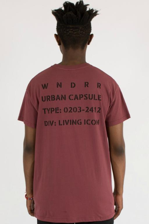 WNDRR - ICON CUSTOM FIT TEE BURGUNDY 34290