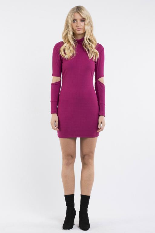JORGE - CLARITY DRESS BURGUNDY 32810