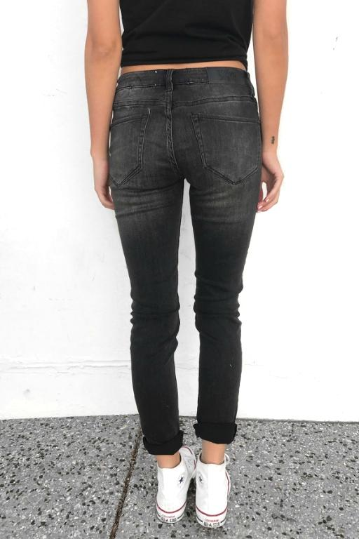 TOKYO JOE DENIM CO - KIARA DENIM JEAN BLACK 33006
