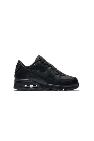 NIKE - AIR MAX 90 LEATHER (PS) BLACK/BLACK 31571
