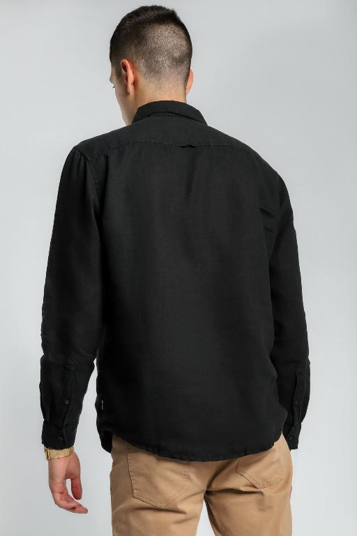 ARTICLE No. 1 - SLATER LINEN LS SHIRT BLACK 33550