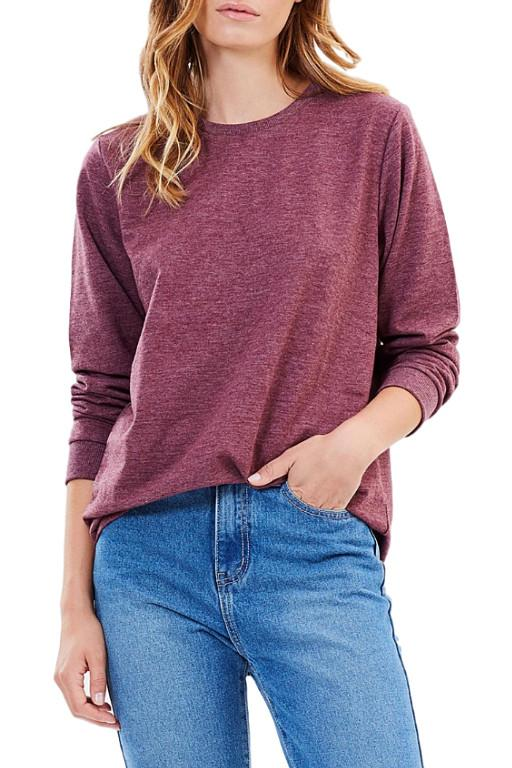 ALL ABOUT EVE - LONGLINE JUMPER BURGUNDY 31962