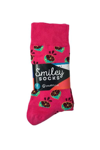 SMILEY SOCKS - SMILEY MENS SOCKS 5 (MELONS) 34024