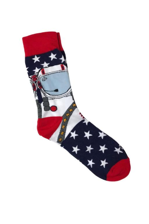 SMILEY SOCKS - SMILEY MENS SOCKS 4 (ASTRONAUT) 34024