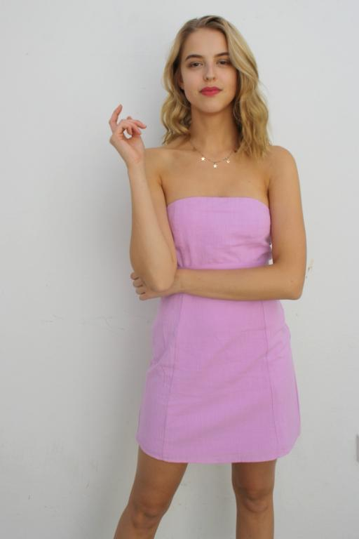 ASHA - MISS WEST COAST DRESS PASTEL LAVENDER 33379