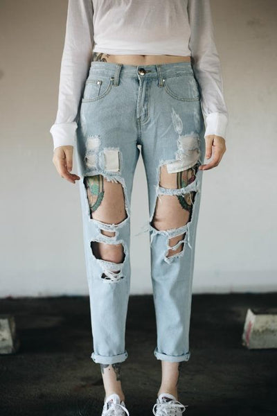 TOKYO JOE DENIM CO - MY BOYFRIENDS JEANS LIGHT BLUE DENIM 32100