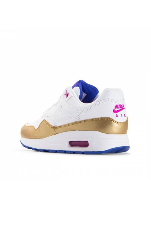 NIKE - AIR MAX 1 (GS) WHITE/WHITE-METALLIC GOLD 33561