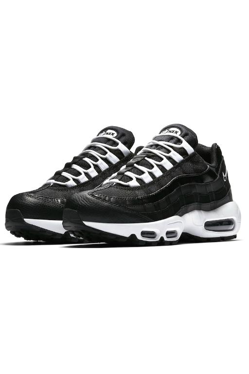 NIKE - WOMENS AIR MAX 95 BLACK/BLACK-WHITE 33139