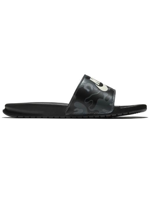 NIKE - MENS BENASSI JDI PRINT BLACK/SUMMIT WHITE 33588