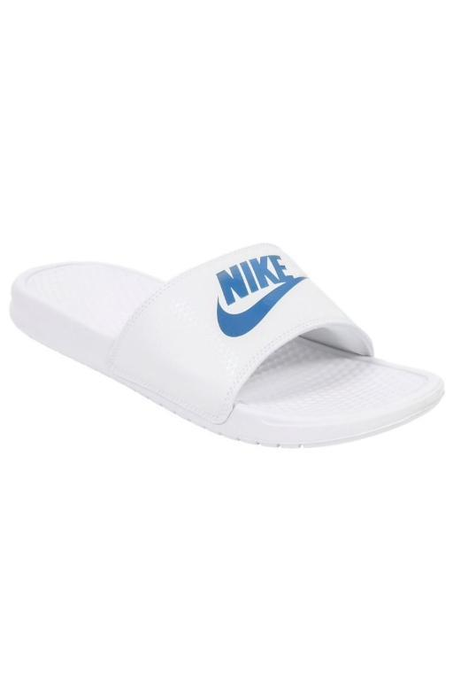 NIKE - MENS BENASSI JDI WHITE/VARSITY ROYAL-WHITE 32691