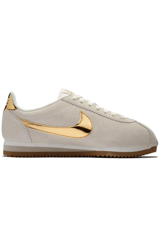 NIKE - WOMENS CLASSIC CORTEZ SE PHANTOM/METALLIC GOLD 33678