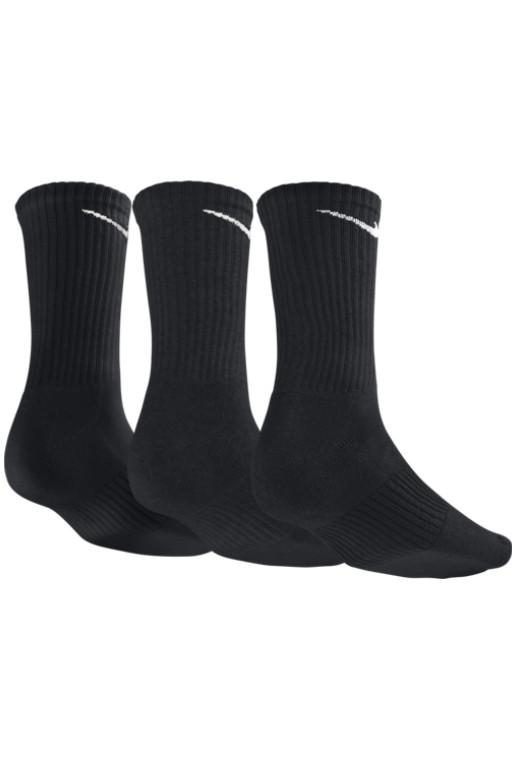 NIKE - COTTON LONG SOCK BLACK/WHITE 30011