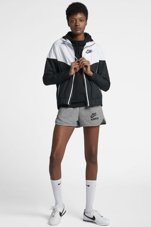 NIKE - WOMENS NSW WINDRUNNER JACKET BLACK/WHITE/BLACK 33528