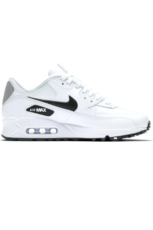 NIKE - WMNS AIR MAX 90 WHITE/BLACK-REFLECT SILVER (WHBKS) 33702