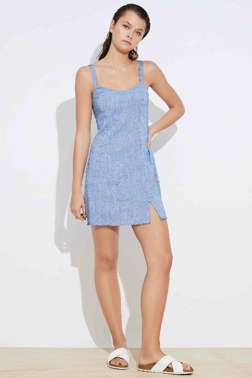 NUDE LUCY - ELECTRA TEXTURED DRESS BLUE 34770