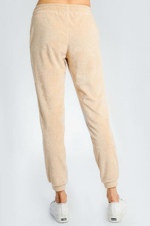 NUDE LUCY - GARCIA VELOUR TRACKPANT SAND 34038