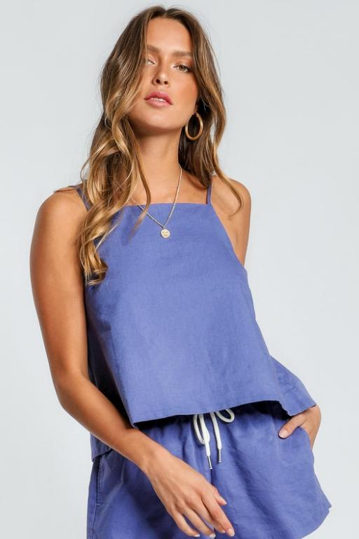 NUDE LUCY - MALLOY CAMI ROCKPOOL BLUE 34303