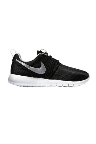 NIKE - ROSHE ONE YOUTH BLACK/METALLIC SILVER-WHITE 27462