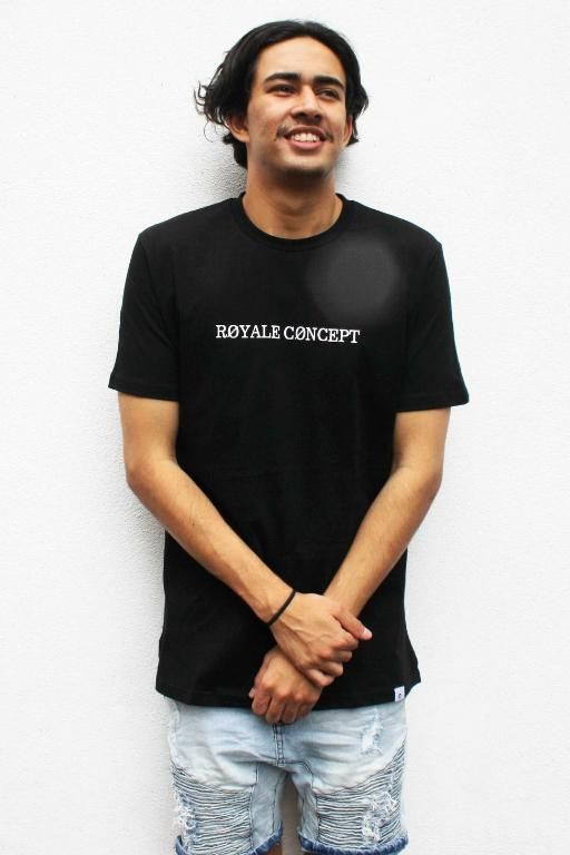 ROYALE CONCEPT - LEAFY TEE BLACK 34828