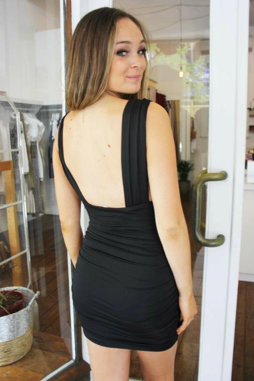 ASHA - SERRATO DRESS BLACK 34467