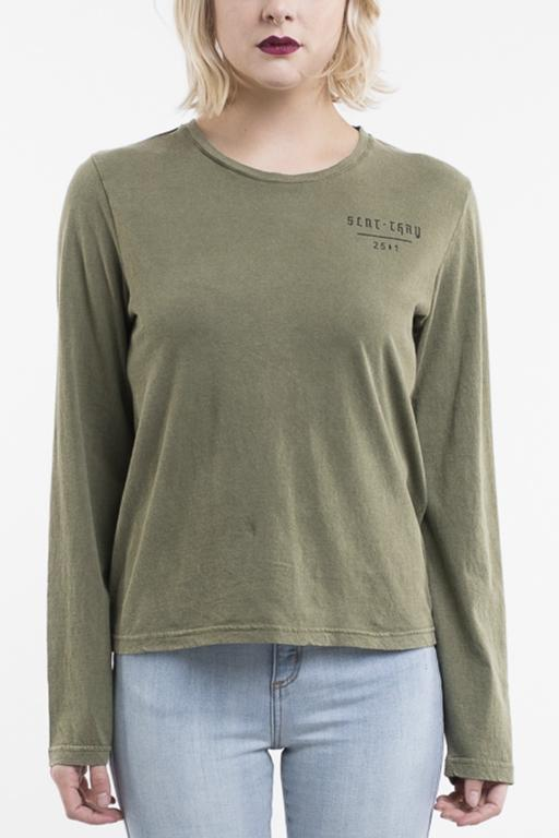 SILENT THEORY - PROTECT LS TEE GREEN 32613