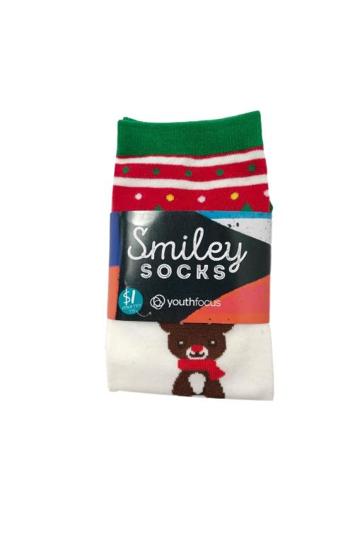 SMILEY SOCKS - XMAS ANKLE SOCKS 3 (REINDEER AND TREE) 34679