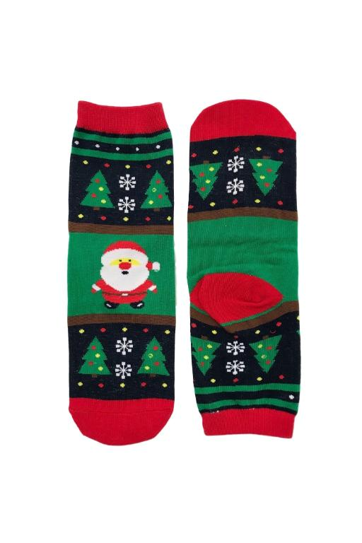 SMILEY SOCKS - XMAS ANKLE SOCKS 4 (SANTA) 34679