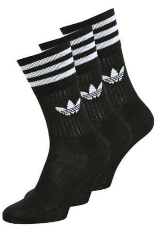 ADIDAS- SOLID CREW SOCK BLACK 32014