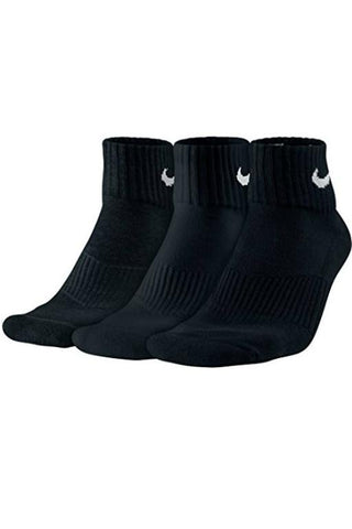 NIKE - COTTON CUSHION SOCKS BLACK/WHITE 30014