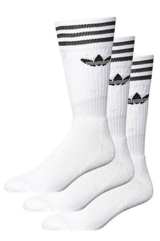 ADIDAS- SOLID CREW SOCK WHITE 32014
