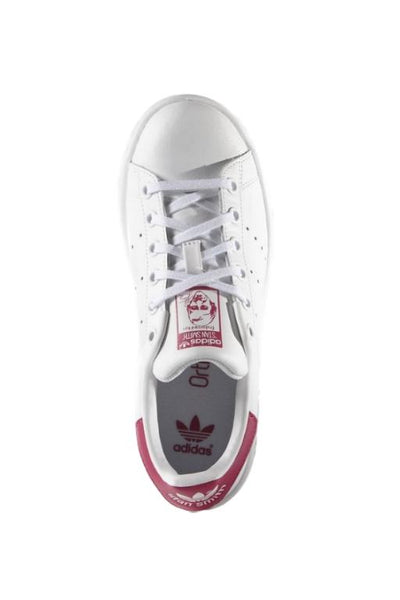 ADIDAS - STAN SMITH JUNIOR WHITE/PINK 32175