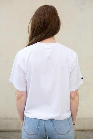 STUSSY - GRAFITTI CROP OS TEE WHITE 33638