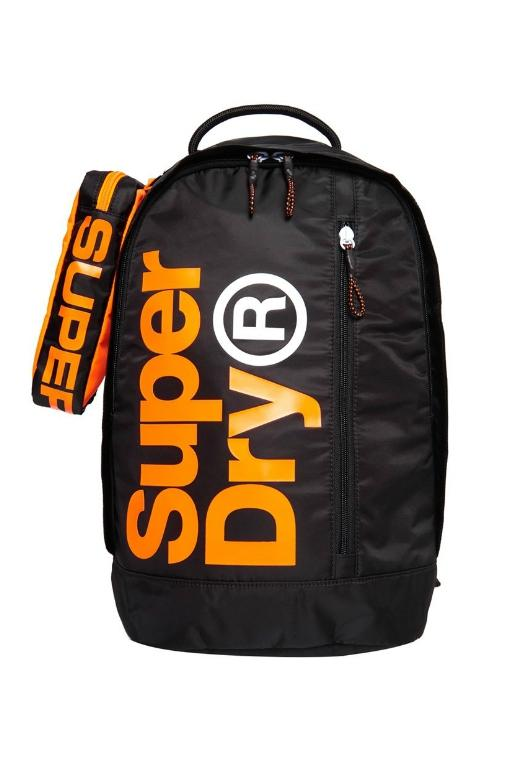 SUPERDRY - ACADEMY FRESHMAN BACKPACK BLACK/ORANGE 34552