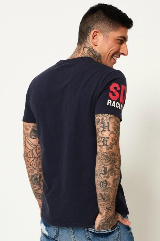 SUPERDRY - FAMOUS FLYERS TEE NAVY 34351