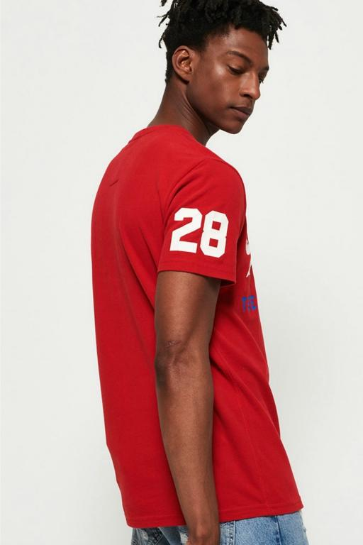 SUPERDRY - SHIRT SHOP TRI TEE STADIUM RED 33292