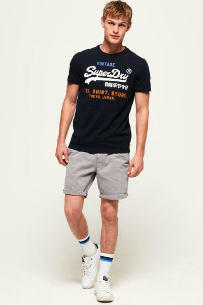 SUPERDRY - SHIRT SHOP TRI TEE ECLIPSE NAVY 33292