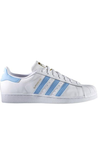 ADIDAS - SUPERSTAR FOUNDATION WHITE/LIGHT BLUE 30667
