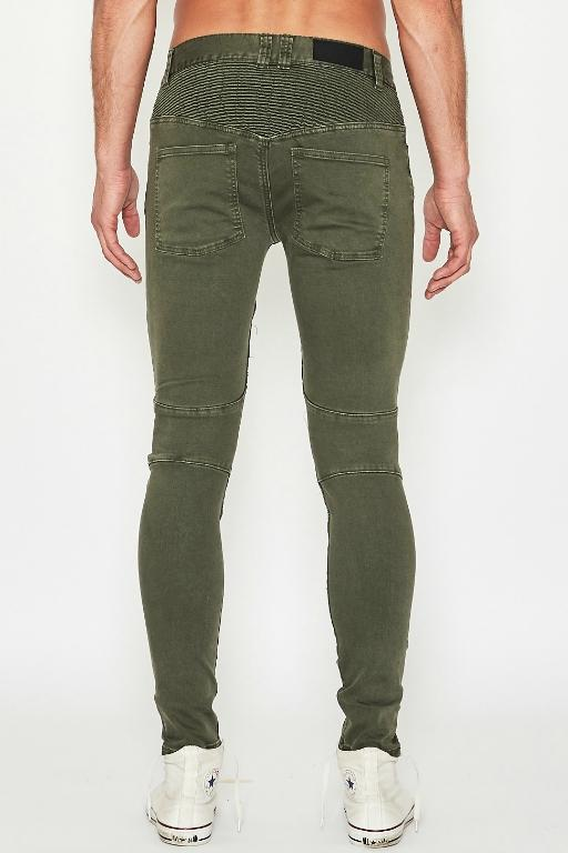SUSHI RADIO - BIKER JEAN JUNGLE GREEN 34105